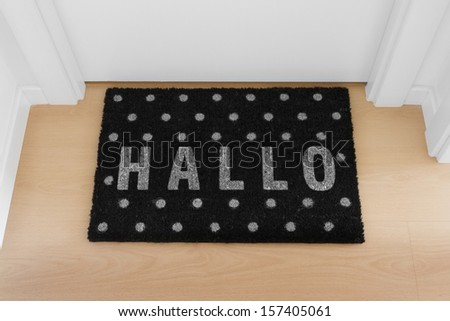 Welcome home black mat. Hallo