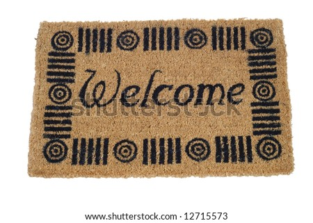 Welcome mat - isolated on white background