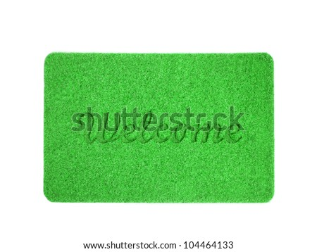 Welcome mat isolated over white