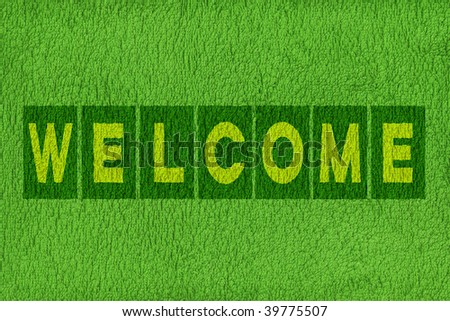 Welcome message background