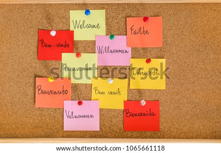 Free photos welcome board with greeting in different languages welcome phrase in different languages words cloud concept 1065661118 m4hsunfo