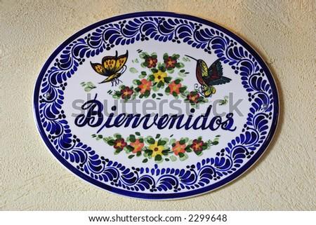 Welcome sign in Spanish Bienvenidos