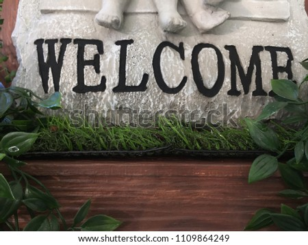 welcome sign  symbol #1109864249