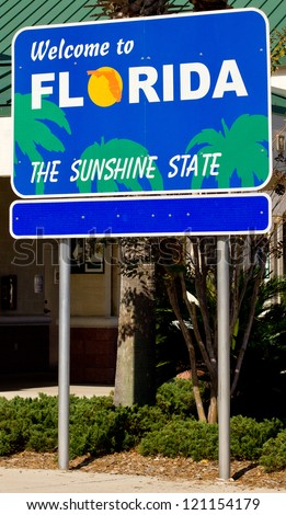 Welcome Sign to Florida