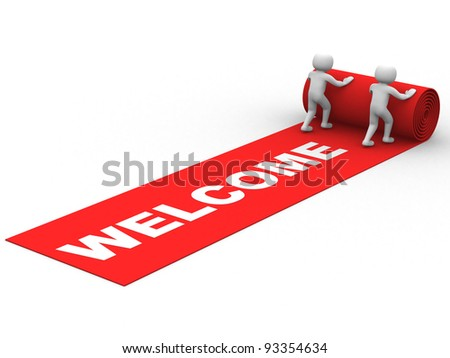 Welcome Success. This is a 3d render illustration