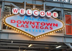 Welcome to Downtown Las Vegas sign in Fremont street.