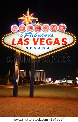 Welcome to Fabulous Las Vegas Nevada - stock photo