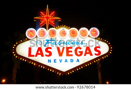 Welcome to Fabulous Las Vegas, Nevada (USA), at night