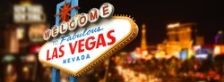 Welcome to Fabulous Las Vegas Sign by night