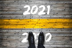 Welcome to 2021, Goodbye to 2020 Start Concept