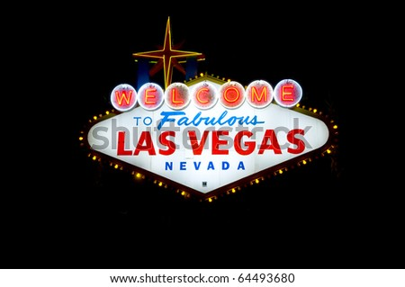 welcome to las vegas sign at night. Welcome To Las Vegas sign