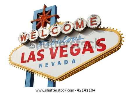 Welcome to Las Vegas sign isolated over white background