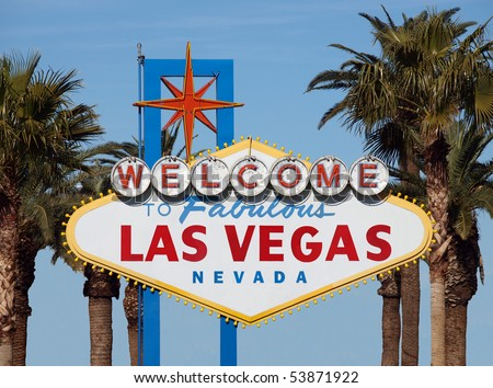 Welcome to Las Vegas sign with buildings removed.