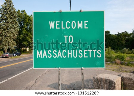 Welcome to Massachusetts state sign