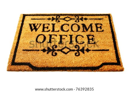 Welcome to office -Doormat to an office