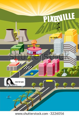 Welcome to  Pixelville City! not far from MicroCity...