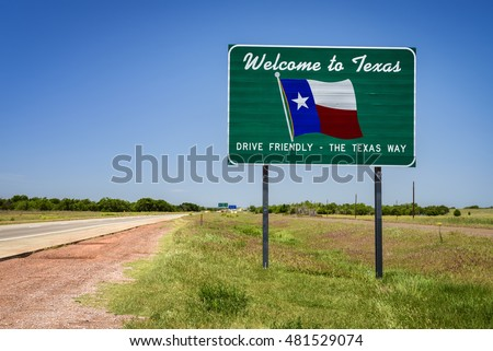 Welcome to Texas State Sign