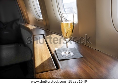 Welcoming Glass of Champagne ストックフォト ©