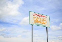 Welcoming sign to South Dakota, USA