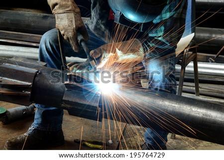 Welder at work  Foto d'archivio ©