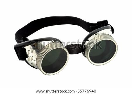 Welder Glasses Isolated on White Background
