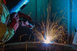 welder is selling metal part of truck