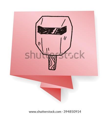 welding mask  doodle #394850914