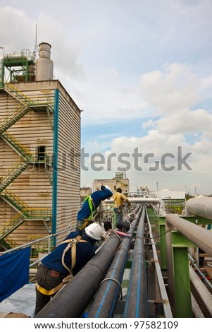 welding pipe and safety in petrochemical plant