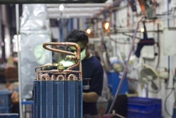 Welding processes in industrial air conditioning