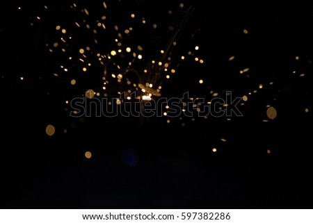 Welding steel with sparks #597382286