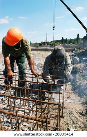 Welding works - stock photo