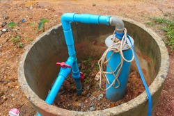 Well Drilling, Dig a well for water, Inside The Well, Water filter system, Water supply pipeline, System for pumping irrigation water for agriculture