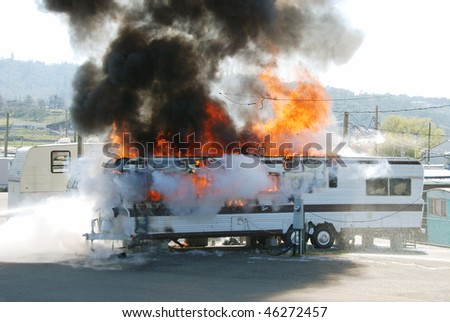 Well involved fire in a travel trailer being used as a residence in Nebo Mobile Home Park, Roseburg OR $20,000 damage 4 people left homeless due to space heater too close to combustibles