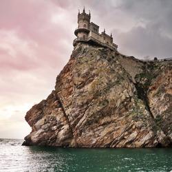 well-known castle Swallow's Nest near Yalta in Crimea, Ukraine