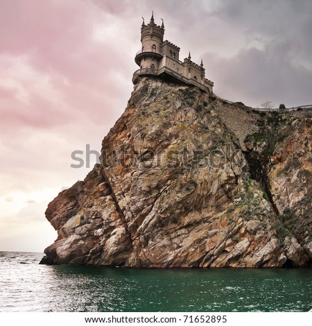 well-known castle Swallow's Nest near Yalta in Crimea, Ukraine