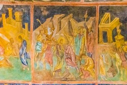 Well-preserved medieval frescoes of Rock-hewn Churches of Ivanovo in Bulgaria - A UNESCO World Heritage Site