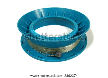 Well used hand line and fishing reel stock photo 2862374 for Handline fishing reel
