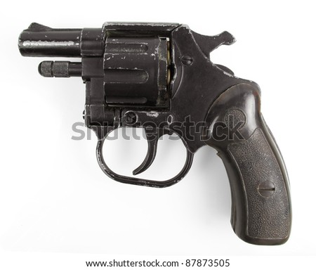 Well used tear gas pistol used for riot control