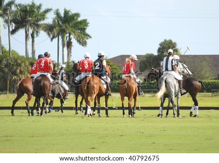 WELLINGTON, FL - NOVEMBER 8:  Polo teams Audi and Grand Champions Polo Club competing in the Wanderer's Cup finals November 8, 2009 in Wellington, FL