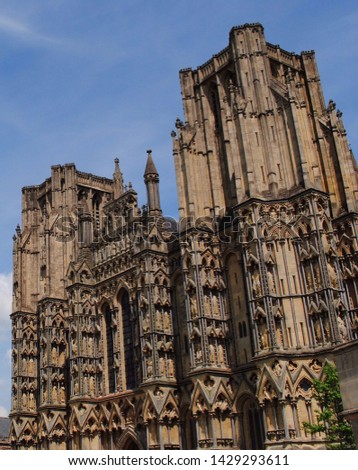 Wells Cathedral, Wells, Somerset, England, medieval Gothic architecture