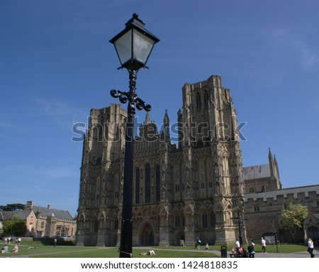 Wells Cathedral, Wells, Somerset, England, the beauty of English Gothic