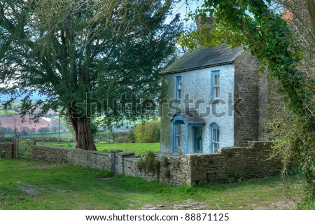 Welsh cottage - stock photo