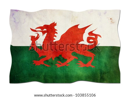 Welsh Flag made of Paper