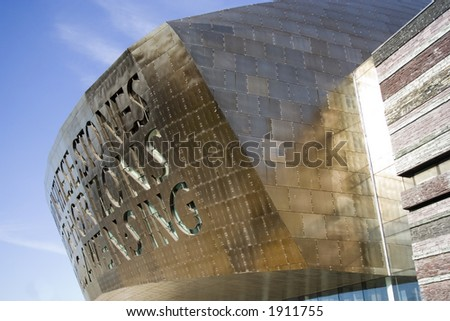 Welsh Millenium Centre in Cardiff Bay, UK. Arts and theatre venue.