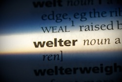 welter word in a dictionary. welter concept, definition.