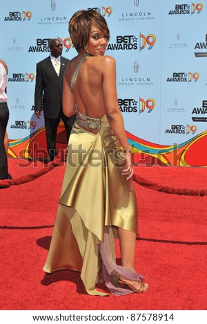 Wendy Raquel Robinson at the 2009 BET Awards (Black Entertainment