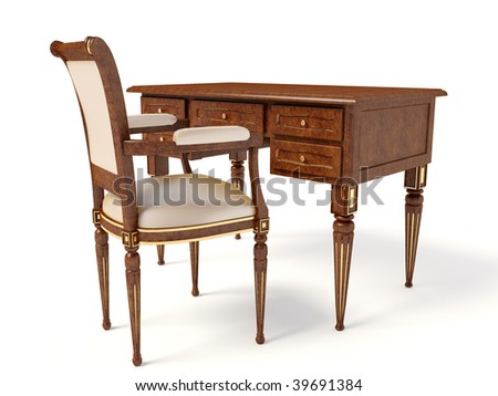 Wenge Furniture Table And Chair