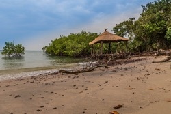 West Africa Guinea Bissau Bijagos islands Bubaque -  gazebo on the seafront
