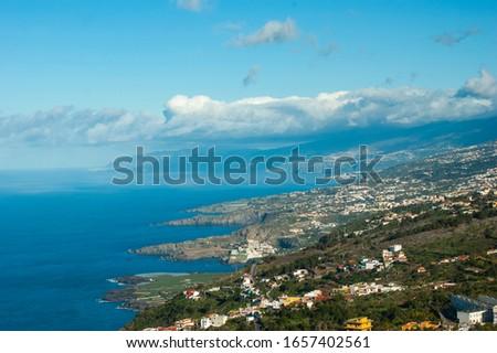 West coast of Tenerife. Mirador Lomo Molino. Picturesque mountainside. Foto stock ©