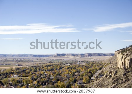 West end of Billings, Montana and the Beartooth Mountains